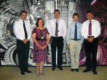 Slijeva nadesno- dr. Tome Antičić, dr. Elizabeth Surrey, dr. Steven Cowley i dr. Tonči Tadić