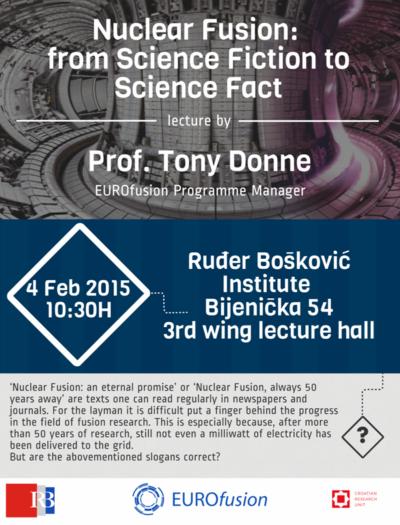 Prof. Donne idući tjedan u Zagrebu o istraživanjima fuzije, dosadašnjem napretku, ciljevima…