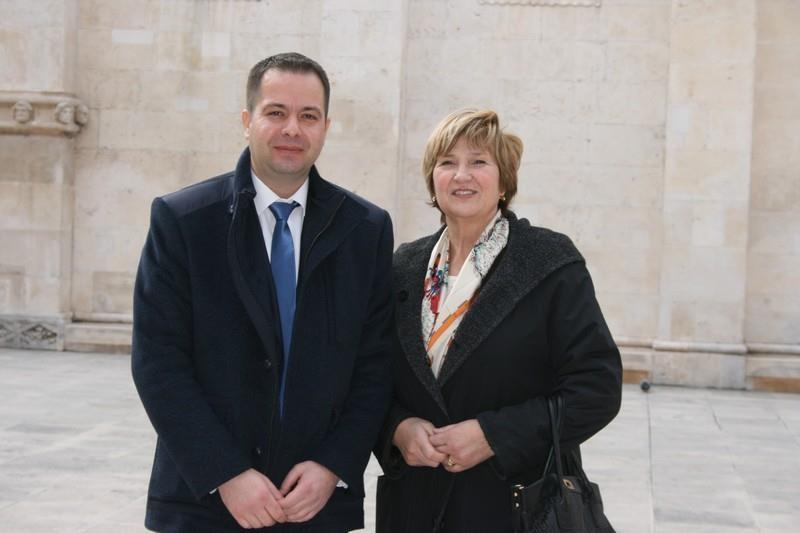 Nikica Penđer i Ruža Tomašić pred sjednicu Predsjedništva Hrvatske konzervativne stranke (Foto: Tris)