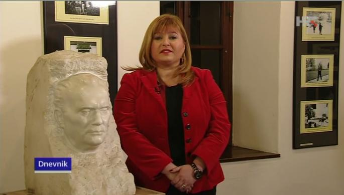 Drug Tito i Vlasta Krklec, ravnateljica Muzeja Hrvatskog zagorja (Screenshot HRT)