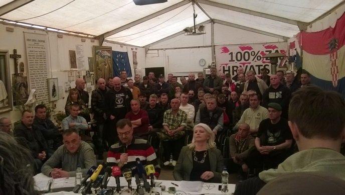 Konferencija za novinare šatoraša - screenshot HRT