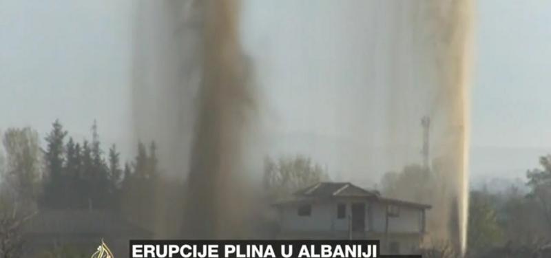 Erupcije u Albaniji printscreen YouTube)