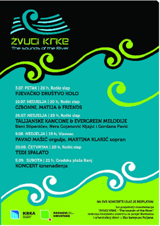 Plakat: 'Zvuci Krke - The sounds of river'