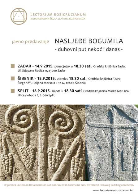 """Predavanja """"Nasljeđe bogumila – duhovni put nekoć i danas"""" u Zadru, Šibeniku i Splitu"""
