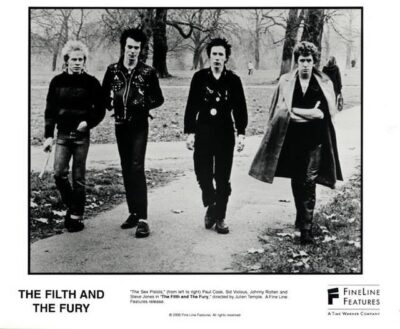Sex Pistols: Paul Cook, Sid Vicious, Johnny Rotten i Steve Jones
