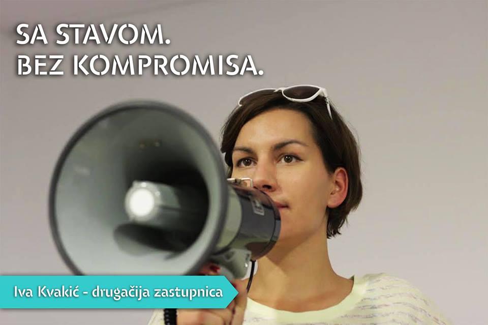 Iva Kvakić: Zamisli drugačiju politiku. I drugačiju saborsku zastupnicu. To sam ja.