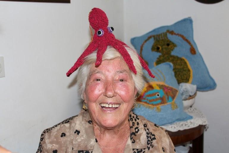 Jerka Petrov i njena hobotnica (Foto: Petar Grgurev)