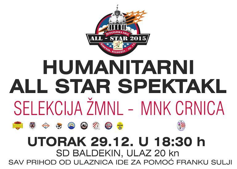 Humanitarni all star spektakl za Franka Sulju