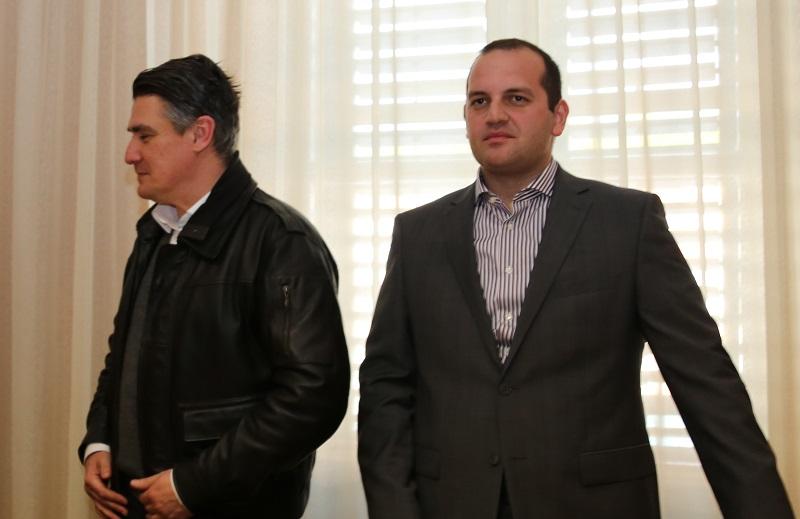 Predsjednik SDP-a Zoran Milanović i zastupnik Ivan Klarin (Foto: Tris/H. Pavić)