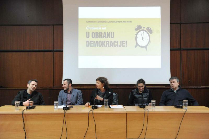 """Prva tribina """"Građanski sat u obranu demokracije!"""""""