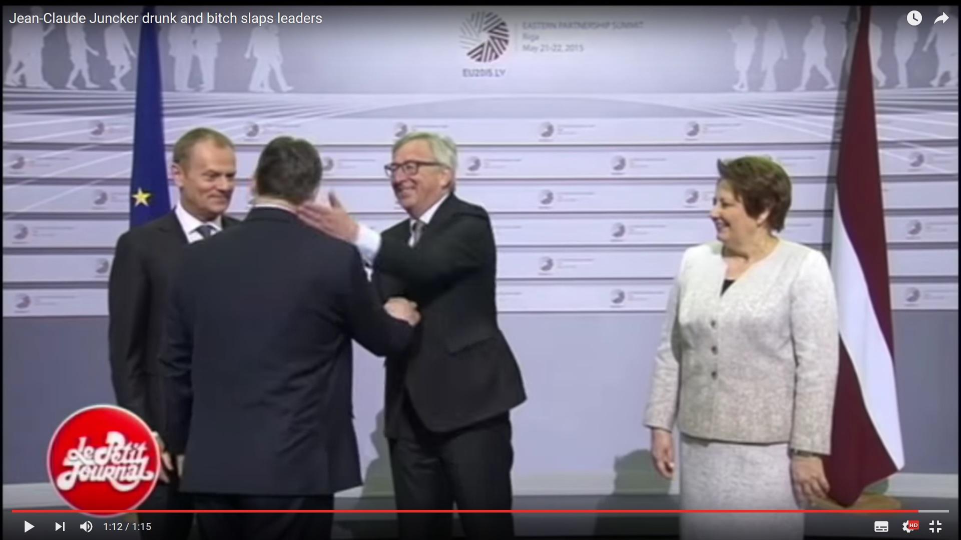Trenutak u kojem Juncker Orbanu 'lijepi' šamarčinu (foto printscreen youtube)