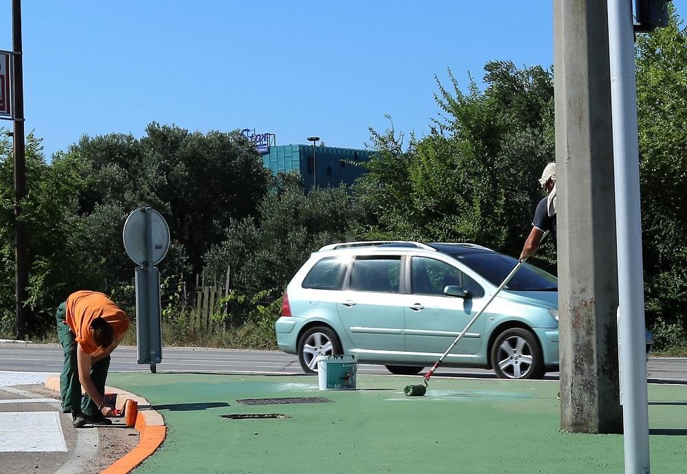 Foto vijest: Pusti motiku, Šibenik se zeleni uz pomoć valjka i boje