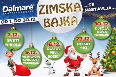 Doživite božićnu čaroliju u centru Dalmare