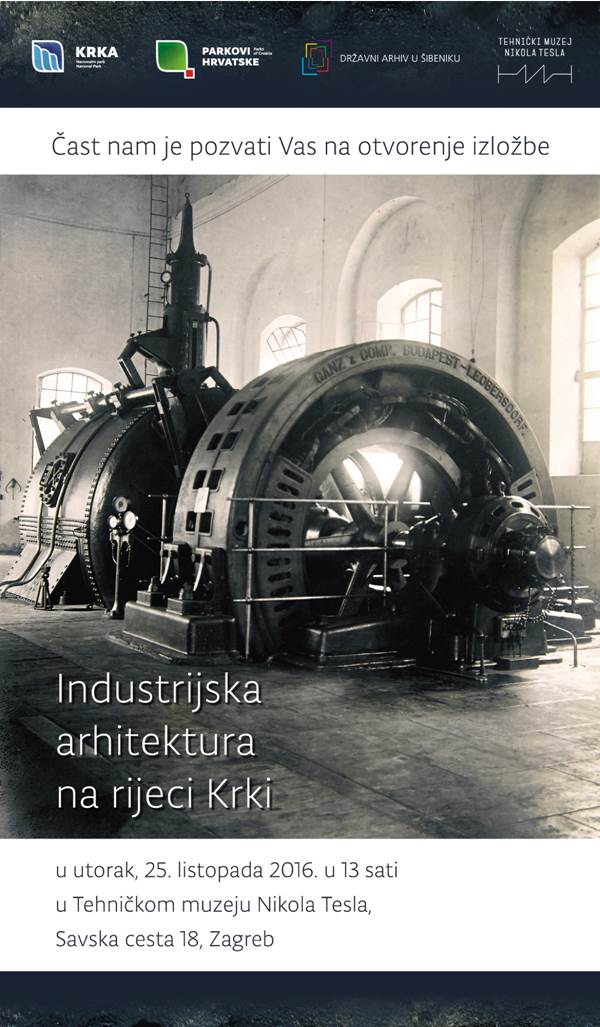 """Izložba """"Industrijska arhitektura na rijeci Krki"""" u Tehničkom muzeju"""