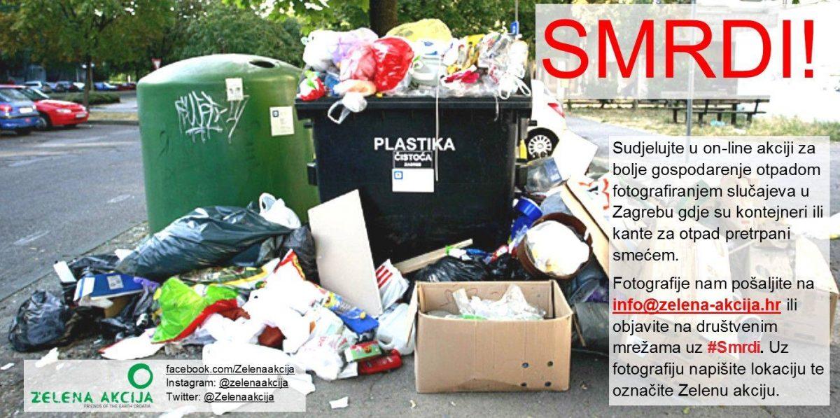 Zelena akcija: Zagreb smrdi i guši se u smeću – građani šaljite fotografije otpada