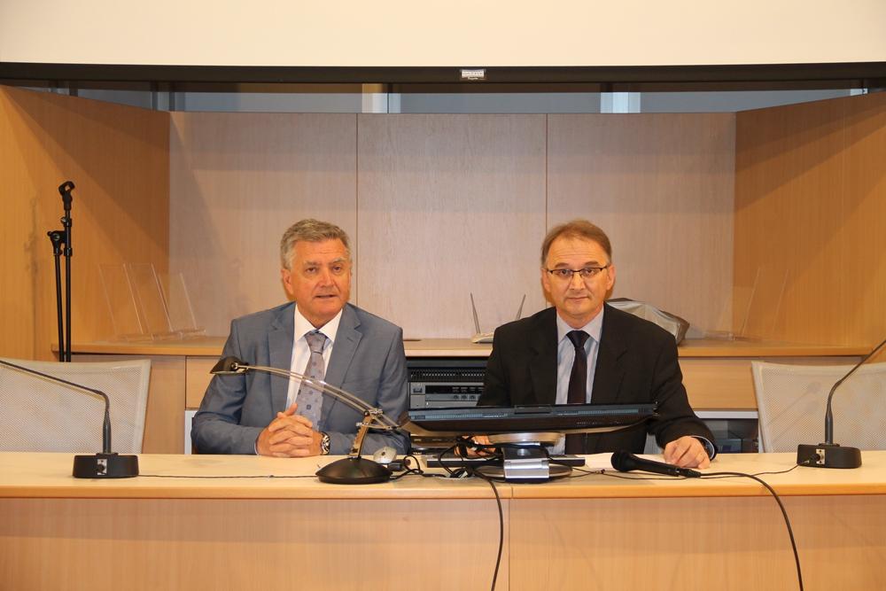 Dr. Burić i dr. Poljičak (foto Grad Šibenik)