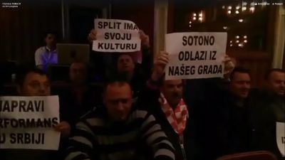 Splitsko kazalište večeras (foto printscreen video Index)