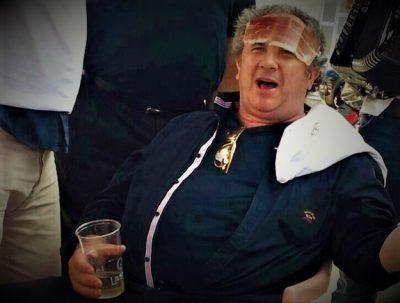 Ilustracija: Kandidat za splitskog gradonačelnika Ž. Kerum za prošle kampanje s pršutom na čelu (dfoto Facebook)