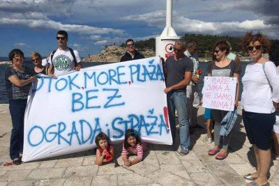 Makarska, prosvjed - foto: Pokret otoka