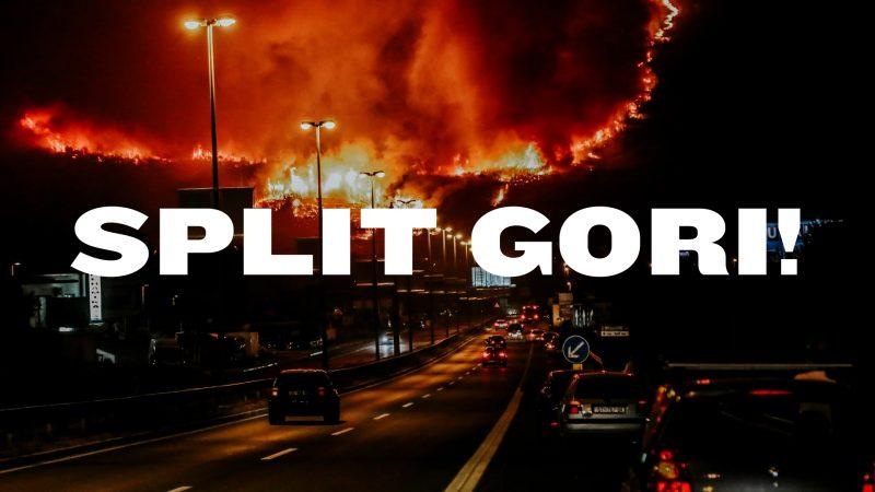 Split gori! – prosvjed u ponedjeljak u 20.30 sati na splitskoj zapadnoj obali