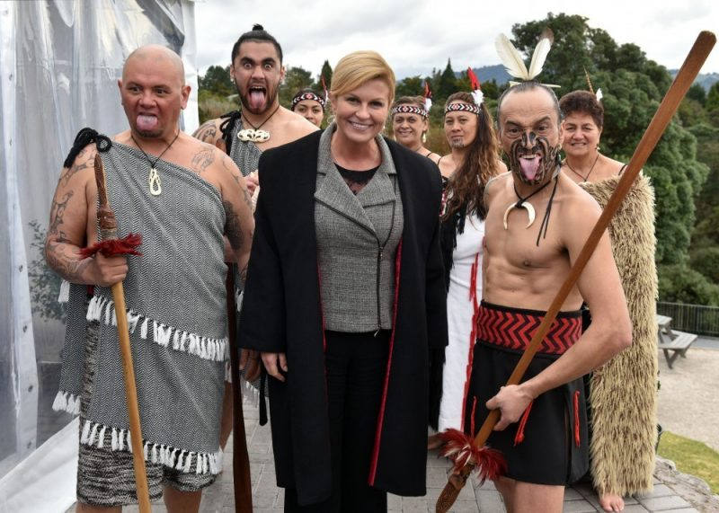 Je li dogovorena gospodarska suradnja? Osebujni doček predsjednice hrvatske države na Novom Zelandu  (foto Ured predsjednice RH)