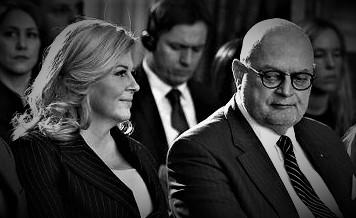 Kolinda G.K. i Marijan H.  u siječnju prošle godine (foto HRT)