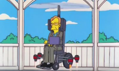 Stephen Hawking u 'Simpsonima' (screenshot)