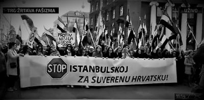 Ilustracija: s nedavnog prosvjeda u Zagrebu (foto printscreen)
