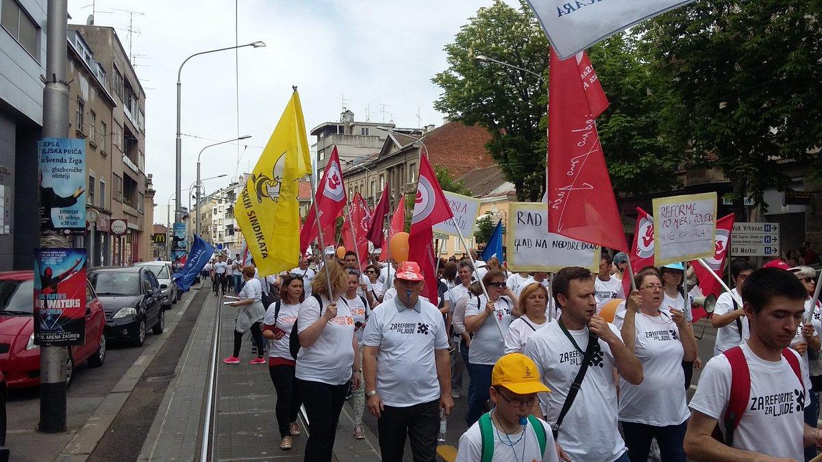 Prvomajsko prosvjedovanje: Grahom protiv radničke gladi!