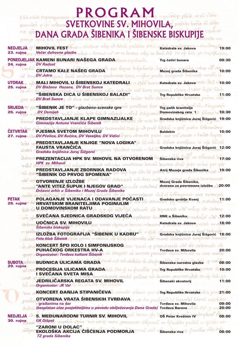 Dan Grada Šibenika: Mise, procesije, knjige, izložbe, koncert, čišćenje podmorskog smeća, planinari, vrtići, jedriličari…