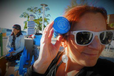 Inga Kukolj s 'kornetom' na plaži Banj (foto TRIS/G. Šimac)