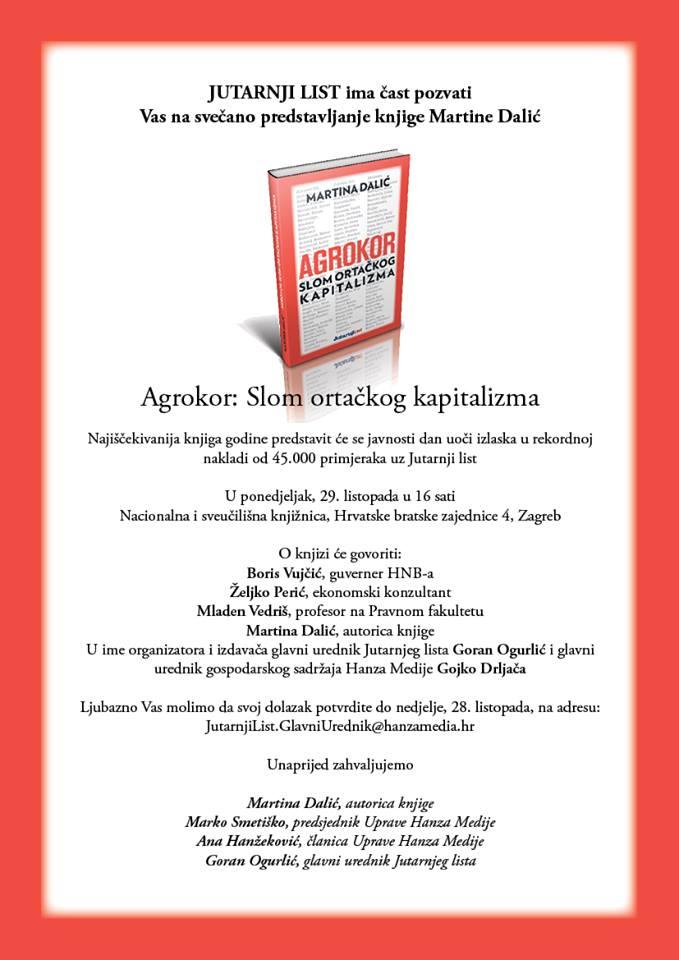 Knjiga M.Dalić izlazi 30.listopada, što li donosi…?