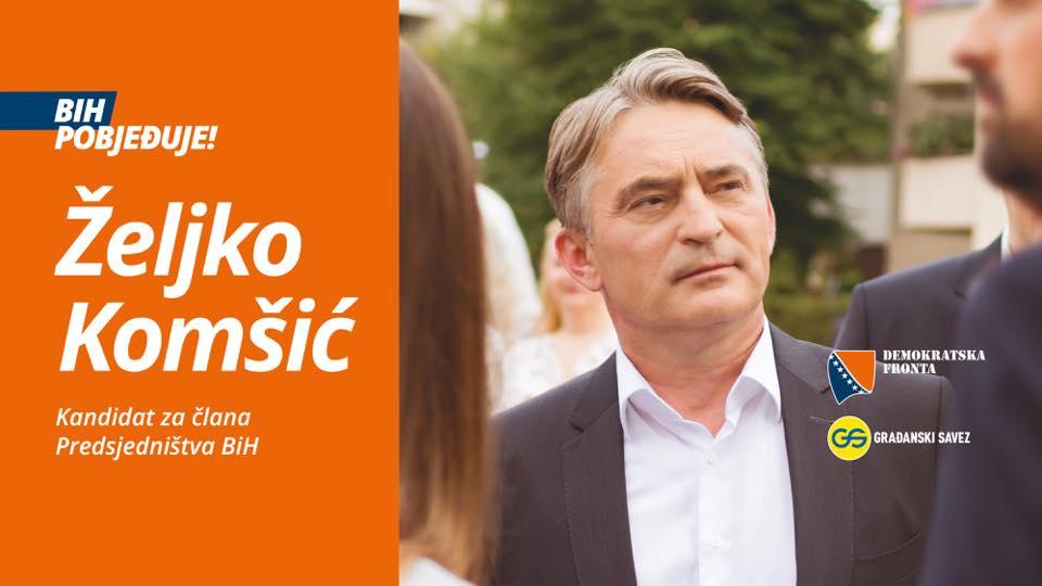 Izbori u BiH: Komšić ponovo glasovima Bošnjaka izabran za hrvatskog člana Predsjedništva