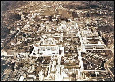 'Stari' Novi Zagreb snimljen iz aviona 1937. godine