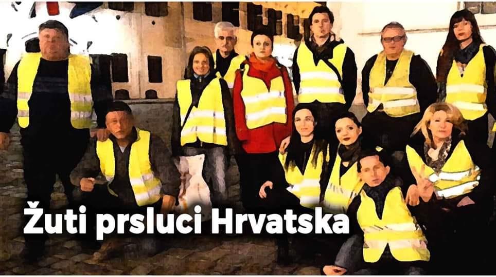 'Žuti prsluci Hrvatske' u podne usred Zagreba: Pozvani su svi, bez ikakvog politiziranja, ideologiziranja i strančarenja
