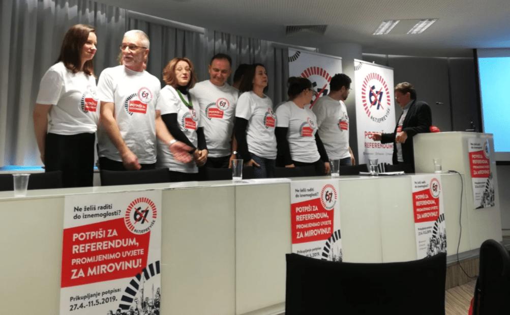 """Krenula sindikalna akcija """"67 je previše"""", traži se 373.568 potpisa građana za referendum"""
