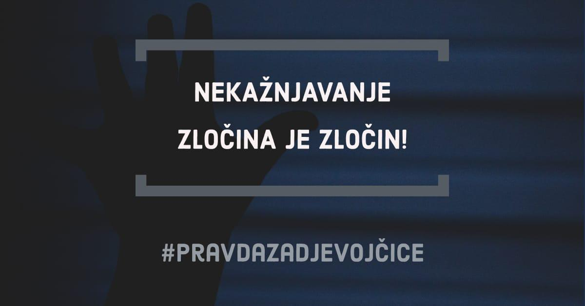 Otvoreno pismo hrvatskim institucijama: Pravda za djevojčice – nekažnjavanje zločina je zločin!