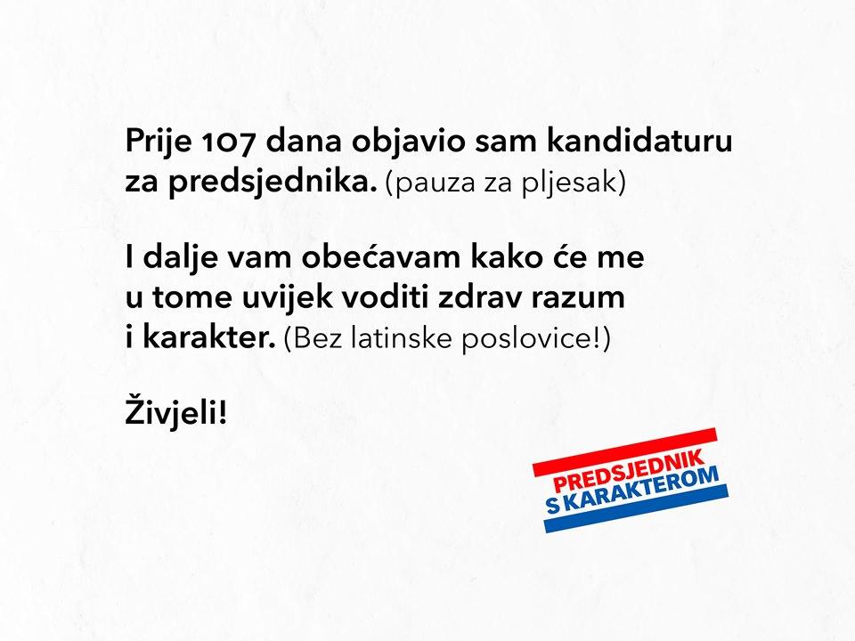Grabar Kitarović vs. Milanović : 0 : 1