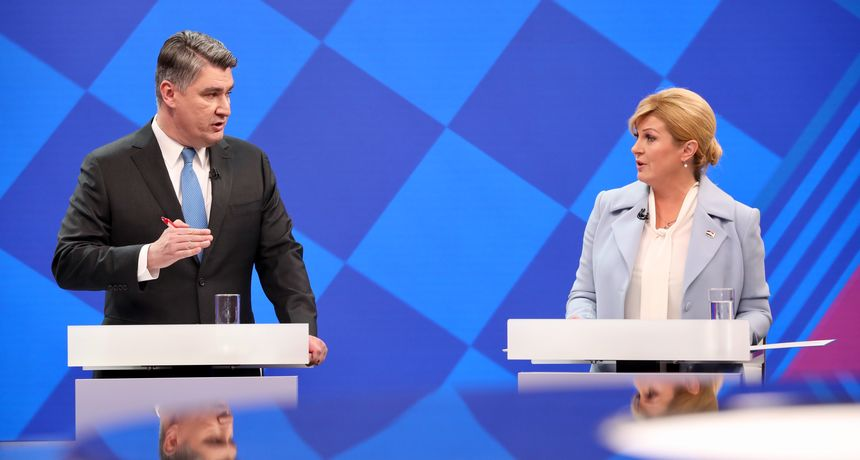 Rezultati izlaznih anketa šokirali HDZ : Milanović 53,25 posto, Grabar Kitarović 46,75 posto