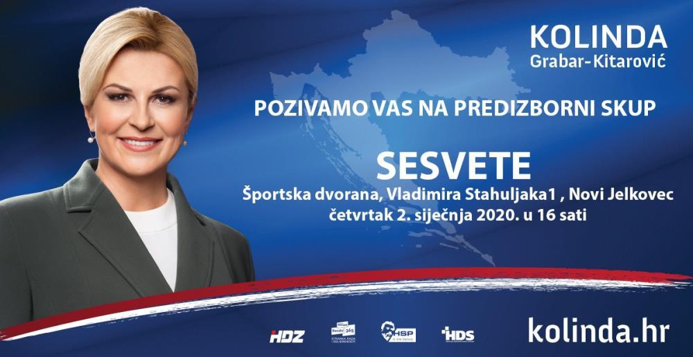Kolinda Grabar Kitarović na kolinda tv-u hvali se potporom Julienne Bušić, osuđene teroristice, a u Sesvetama, na predizbornom skupu, proglasila – pobjedu?!