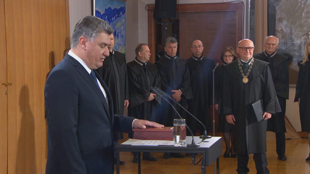 Na Pantovčaku prisegnuo novi hrvatski predsjednik Zoran Milanović: Ovo je kuća za sve nas. Za one koji smo tu, za generacije koje dolaze, za one koji će se vratiti svojoj kući…