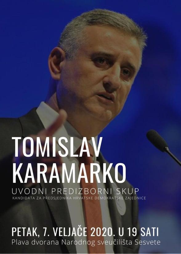 """Tomislav Karamarko ponovo """"jaše"""": Uvodni predizborni skup Karamarko najavio za 7.veljače u Sesvetama"""