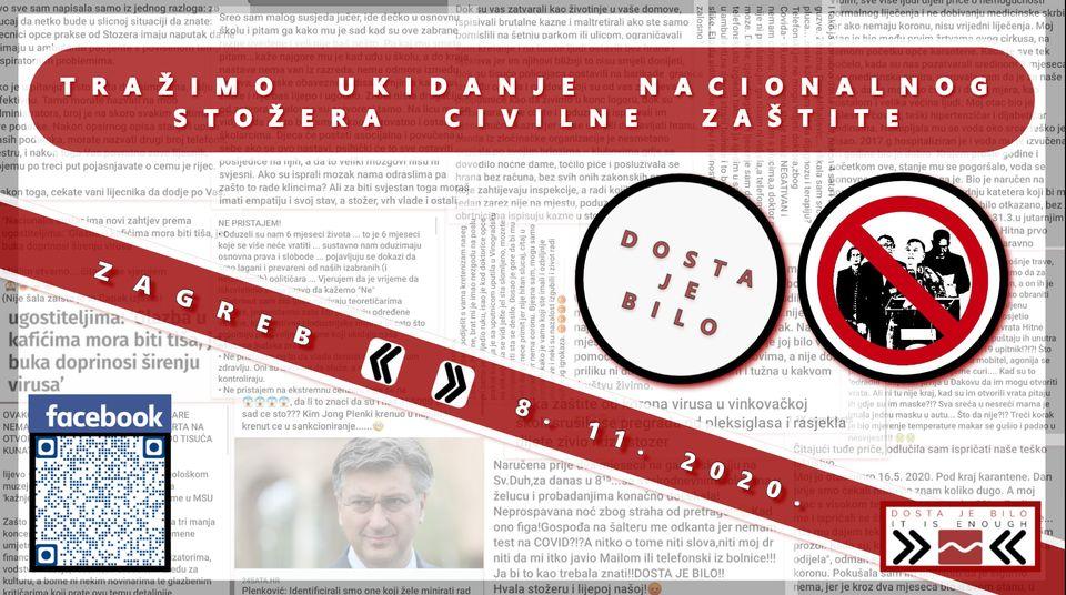 """Antikorona prosvjed na Trgu bana Jelačića: Paušalne optužbe, negiranje pandemije, zastrašivanje cjepivom, """"festival primitivizma""""…"""
