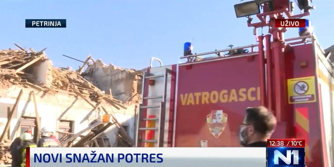 Katastrofalan potres, jačine 6,2 stupnja pogodio ponovo petrinjsko područje
