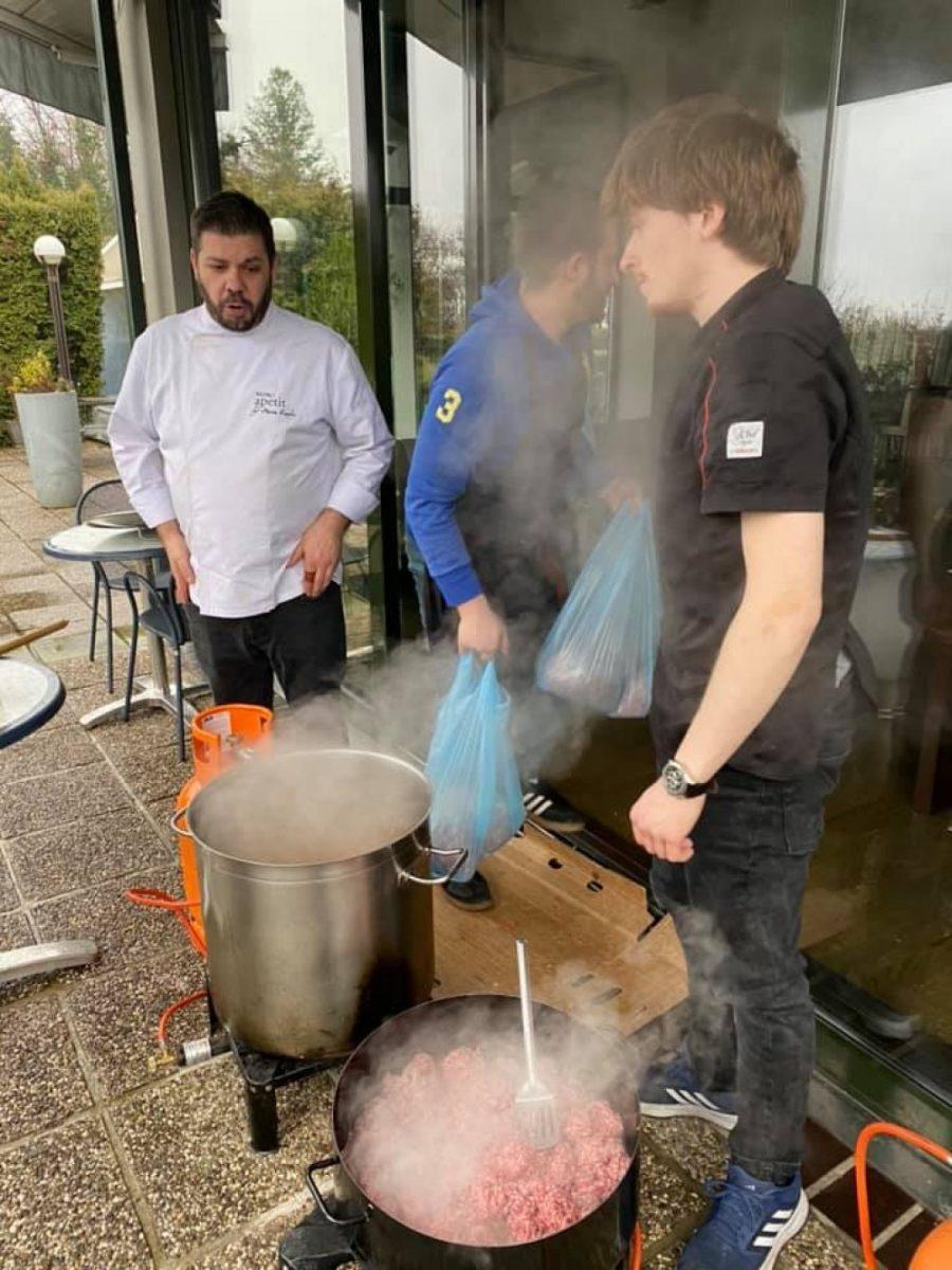 Državna kuhinja : Pleter nakon 14 dana od potresa preuzeo kuhaču od privatnih ugostitelja; čekali su mobilizacijski poziv ( ?! )