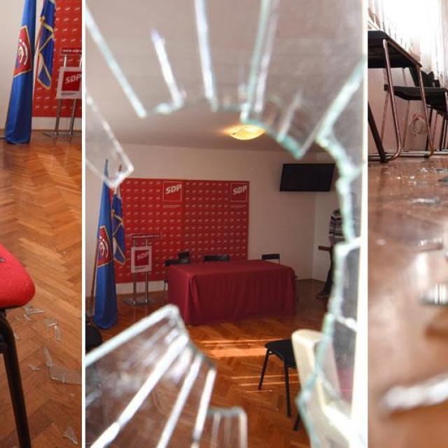 Kamenovane prostorije zadarskog SDP-a: Smetamo! Smetat ćemo i dalje!, poručuju SDP-ovci…
