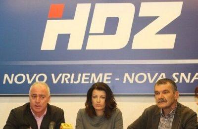 Arhiva: HDZ-ovci Goran Pauk, Josipa Rimac, Nediljko Dujić (Foto: Hrvoslav Pavić)