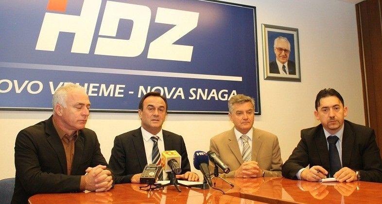 Konferencija ŽO HDZ-a Goran pauk, Ante Kulušić, Željko Burić i Tomislav Vrdoljak (3)