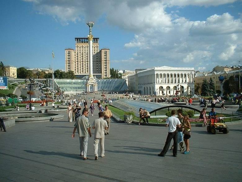 Idila na Majdanu, središnjem kijevskom trgu, u vrijeme kada je vladao mir