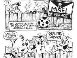 Vratili kuburu i dimnu bombu – policijski strip s bananom, kruškom i grožđem upozorava na oružje